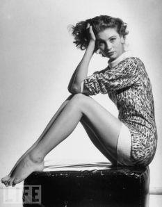 Suzy Parker vintage 50s model fashion leopard print